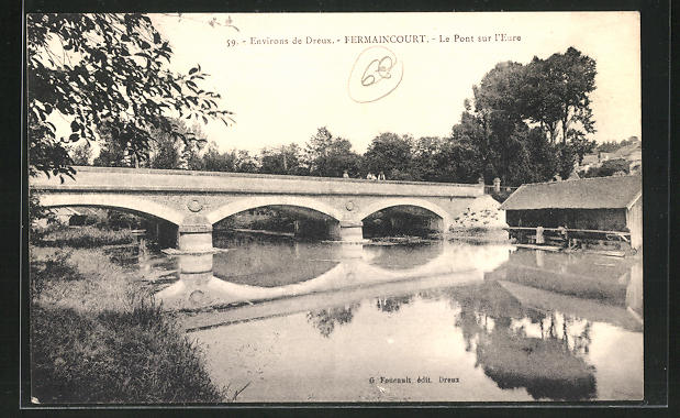 AK Fermaincourt, Le Pont sur l`Eure 0