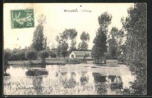 AK Brezolles, Haus am Fluss