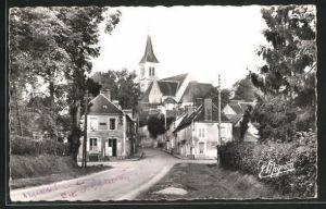 AK Authon-du-Perche, Vue dans la Rue de Chartres