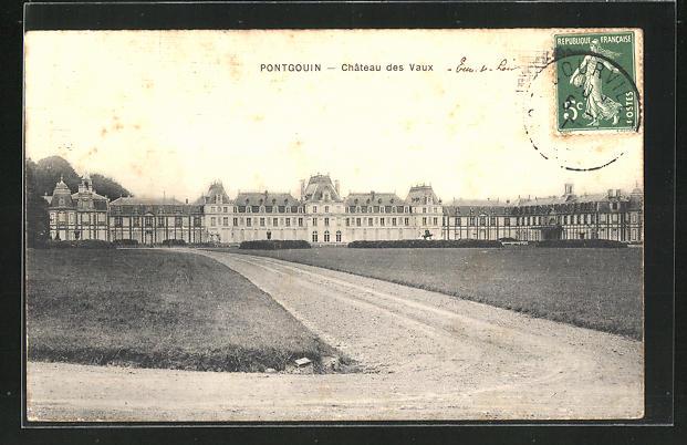 AK Pontgouin, Chateau des Vaux 0