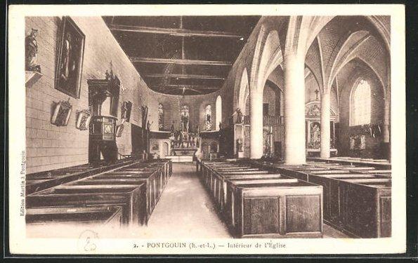 AK Pontgouin, Interieur de l`Eglise 0