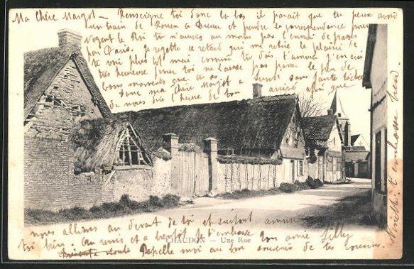 AK Chaudon, Alte Häuser in einer Strasse 0