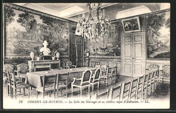 AK Nogent-le-Rotrou, La Salle des Mariages et ses celebres tapis d`Aubusson 0