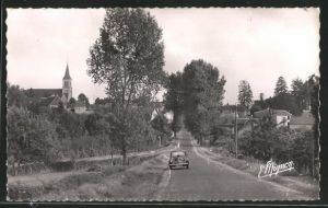 AK Authon-du-Perche, Vue d`ensemble, Route de Nogent-le-Rotrou