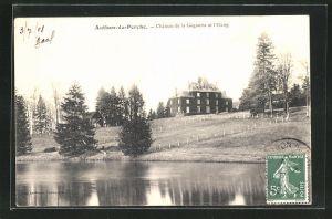 AK Authon-du-Perche, Chateau de la Goguerie et l`Etang