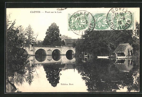 AK Cloyes, Pont sur le Loir 0