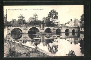 AK Cloyes-sur-le-Loir, Le Pont sur le Loir