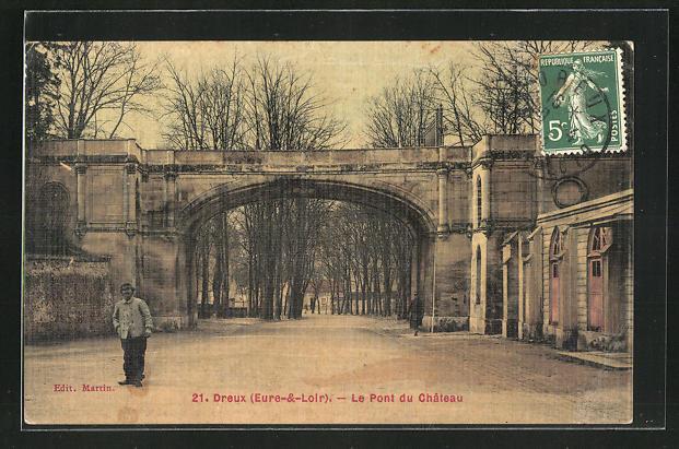 AK Dreux, Le Pont du Chateau 0