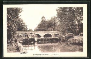 AK Courville-sur-Eure, Les Canaux