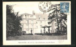 AK Oysonville, Le Chateau, vu du Parc