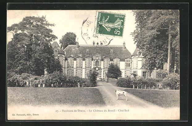 AK Breuil, Le Chateau, Schloss und Hund 0