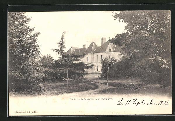 AK Angennes, Parkpartie mit Schloss 0