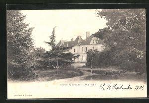 AK Angennes, Parkpartie mit Schloss