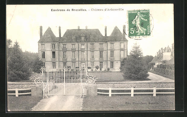 AK Chateau d`Arbouville, Blick zum Schloss 0