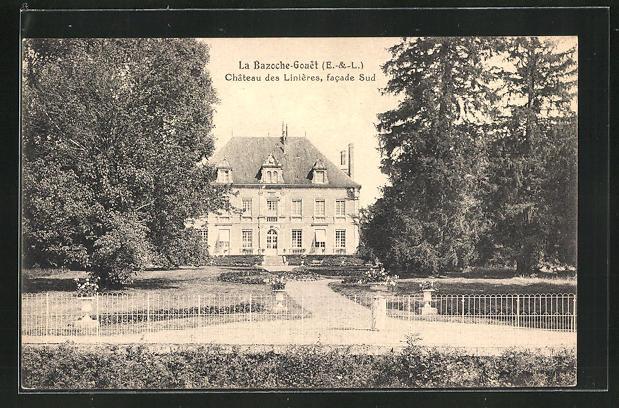 AK La Bazoche-Gouet, Chateau des Linieres, facade Sud 0
