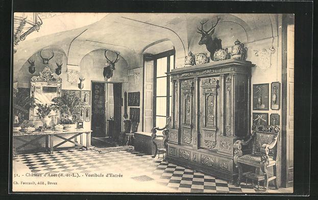 AK Anet, Chateau, Vestibule d`entree