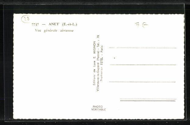 AK Anet, Vue generale arienne, Fliegeraufnahme 1