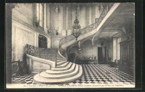AK Anet, Chateau, Vestibule d`entree et Grand Escalier construit par le Duc de Vendome