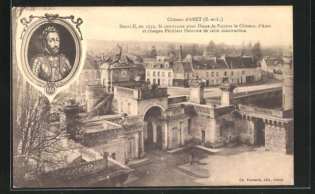 AK Anet, Chateau, Henri II. fit construire pour Diane de Poitiers