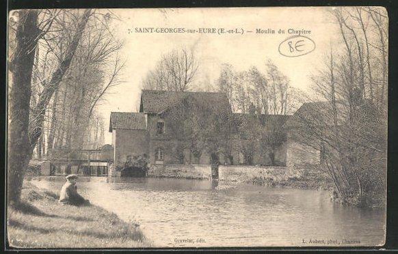 AK Saint-Georges-sur-Eure, Moulin du Chapitre 0