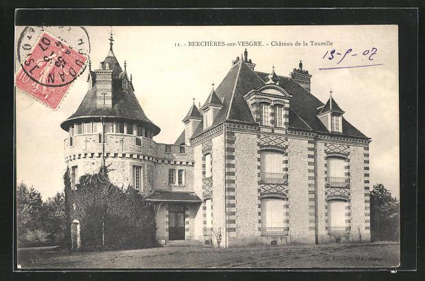 AK Bercheres sur Vesgre, Chateau de la Tourelle 0