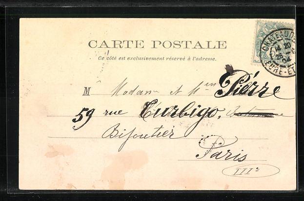 AK Chateaudun, La Rue d'Orleans, apres I Incendie 18 Octobre 1870 1