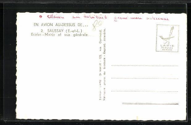 AK Saussay, Ecoles Mairie et vue générale 1
