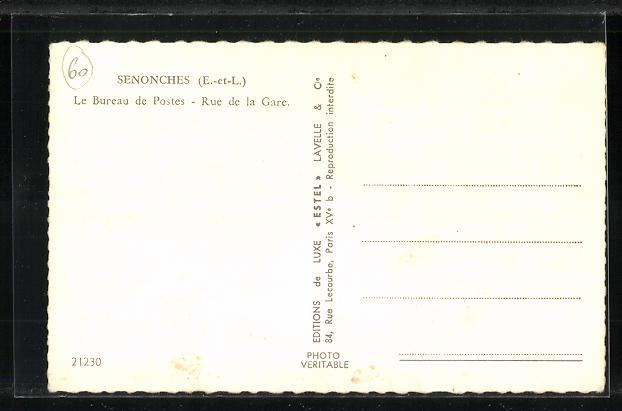 AK Senonches, Le Bureau de Postes, Rue de la Gare 1