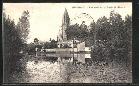AK Brezolles, vue prise de la Route de Verneuil 0