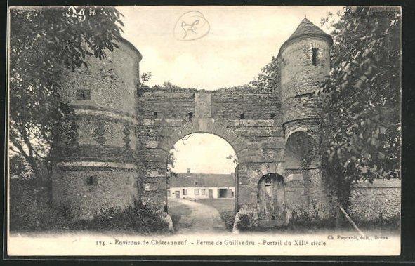 AK Chateauneuf, Ferme de Guillandru, Portail du XIII siecle 0