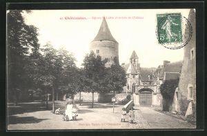 AK Chateaudun, Square St-Lubin et entree du Chateau