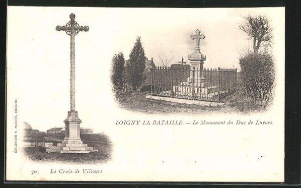 AK Loigny La Bataille, le Monument du Duc de Luynes, La Croix de Villours 0