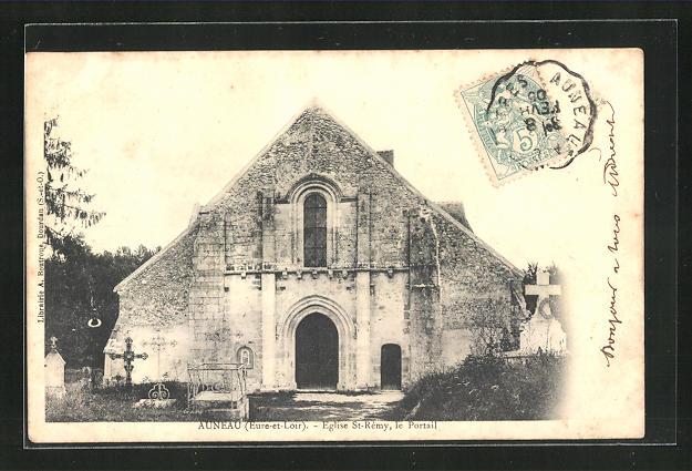 AK Auneau, Eglise St.Remy, le Portail 0