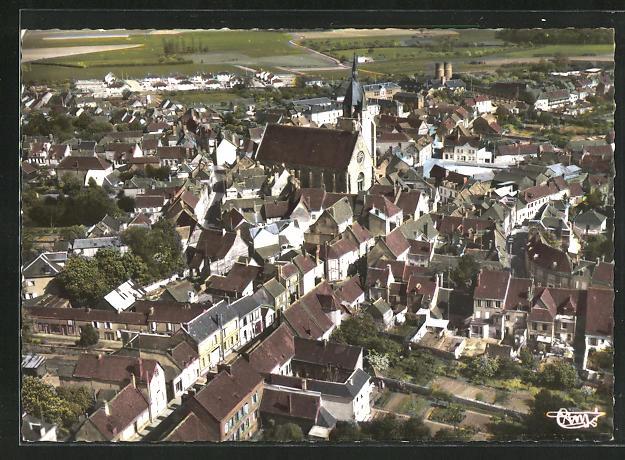 AK Illiers, vue panoramique aerienne 0