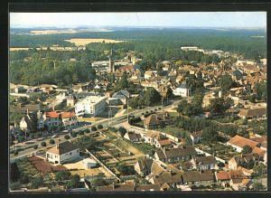 AK Chateauneuf-en-Thymerais, vue generale aerienne