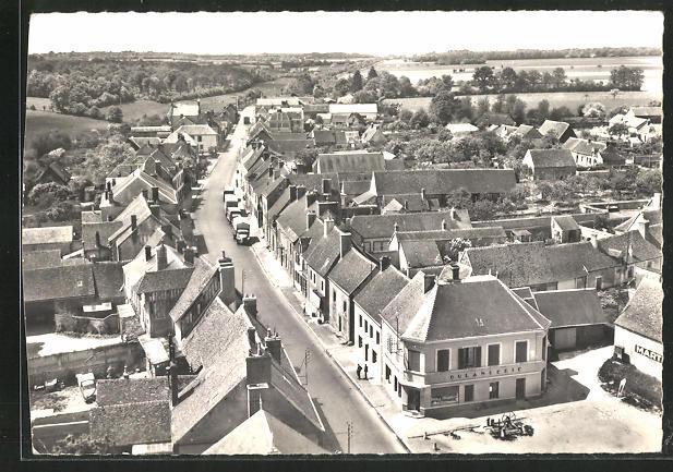 AK Champrond-en-Gatine, route du Mans, vue generale aerienne 0