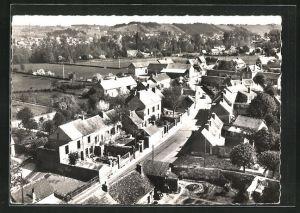 AK Saussay, rue principale et vue sur les cotes, vue generale aerienne