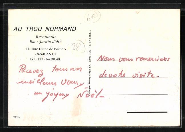 AK Anet, Au trou Normand, Restaurant, 31 rue Diane de Poitiers 1