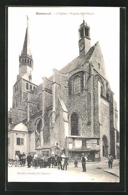 AK Bonneval, L`Eglise, Facade Sud-Ouest