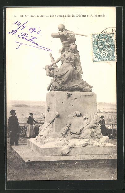 AK Chateaudun, Monument de la Defense 0