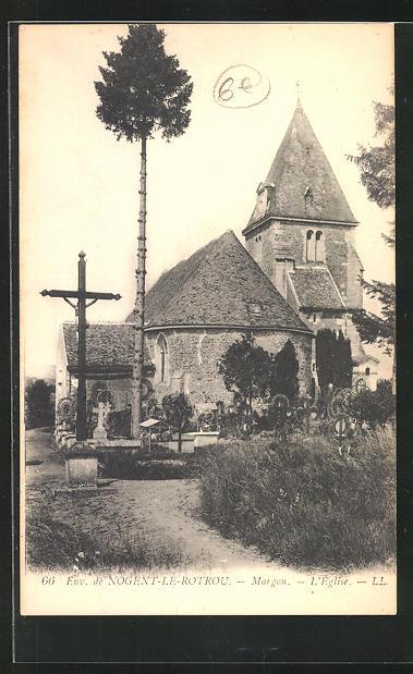 AK Nogent-le-Rotrou, Margon, L`Eglise 0