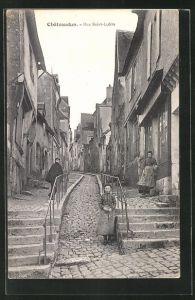 AK Chateaudun, Rue Saint-Lubin, Strassenpartie