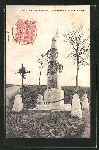 AK Bercheres-sur-Vesgre, Le Monument du Souvenir Francais