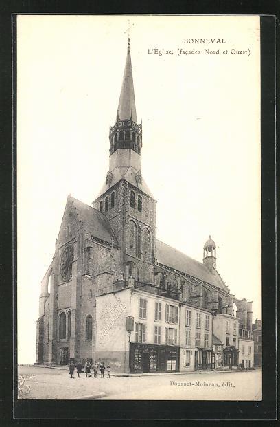 AK Bonneval, L`Eglise, facades Nord et Ouest 0