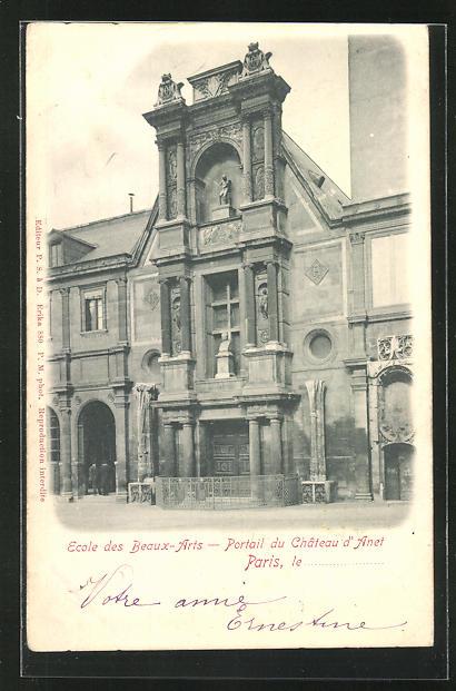 AK Paris, Ecole des Beaux-Arts, Portail du Chateau d`Anet 0
