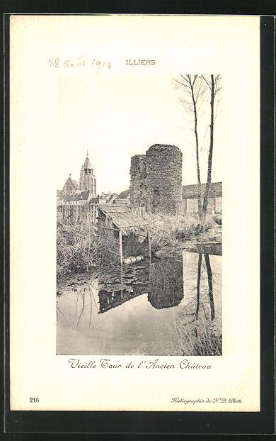 Präge-AK Illiers, Vieille Tour de l`Ancien Chateau 0