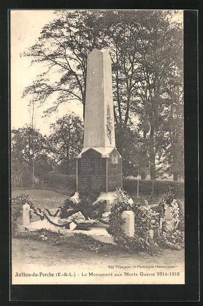 AK Authon-du-Perche, Le Monuments aux Morts Guerre 1914-1918