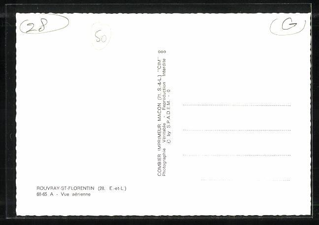 AK Rouvray-St.-Florentin, Vue aerienne 1