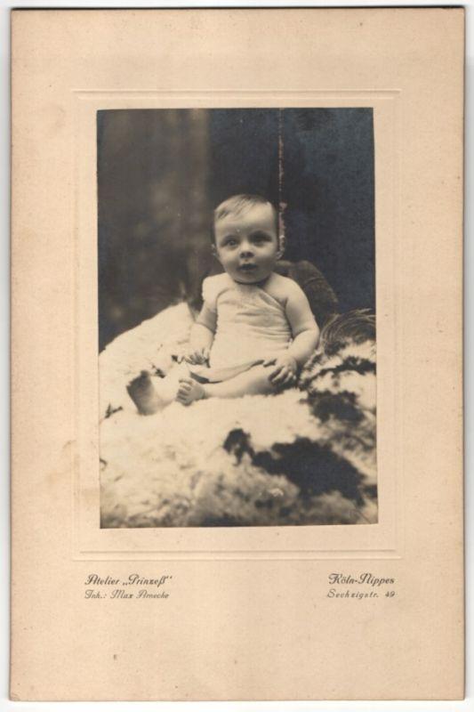 Fotografie Atelier Prinzess, Köln-Nippes, Baby auf Felldecke sitzend 0