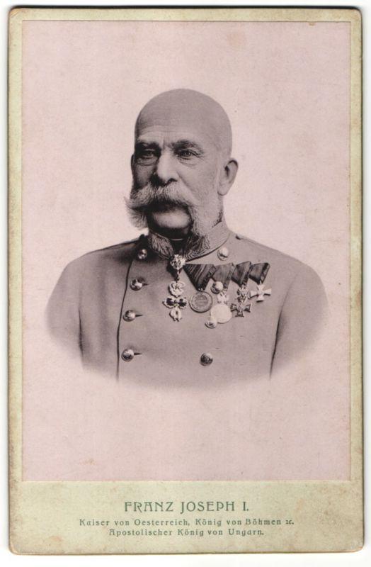 Fotografie Portrait Franz Joseph I., Brustportrait mit Orden 0